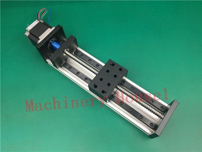 GX80 1605 Sliding Table effective stroke 2000mm Guide Rail XYZ axis Linear motion+1pc nema 23 stepper motor single block su gx 5s r