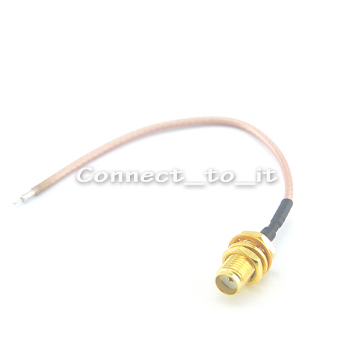 10 Pieces SMA Female Jack Adapter Connector DIY Wifi Router Cable 100mm Extension pigtail cable RG178