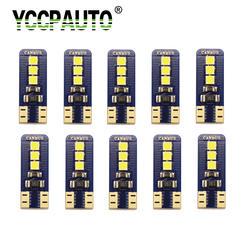 YCCPAUTO Авто светодио дный T10 CANBUS 194 W5W 6 Smd 3030 Подсветка регистрационного номера белый интерьер купола Карта лампочки для чтения ошибок
