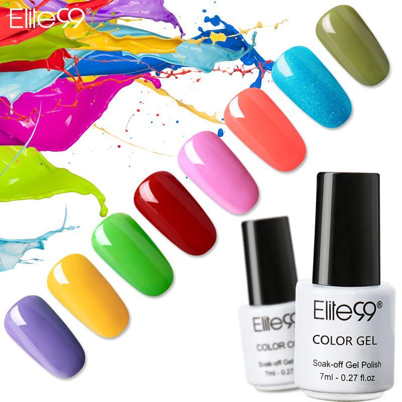 Elite99 3в1 одношаговый Гель-лак для ногтей УФ светодиодный полуперманентный эмалевый Гель-лак для ногтей Гель-лак 7 мл без необходимости верхне...