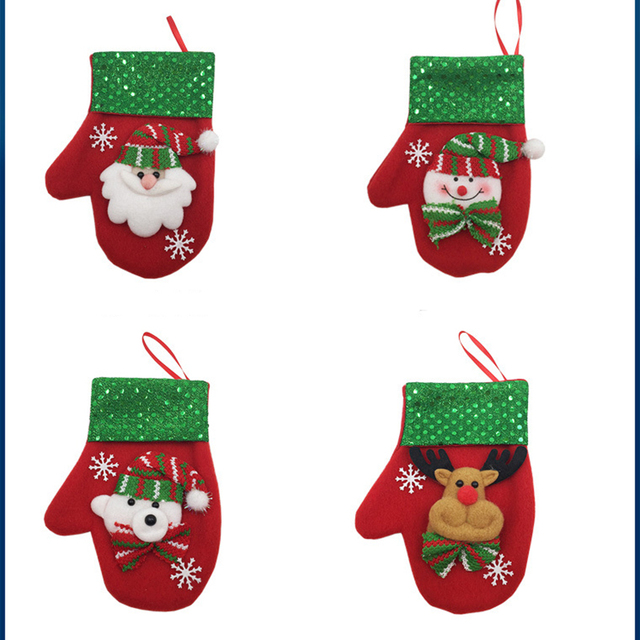 new baby gloves christmas decoration cute infant mittens cotton toddler glove candy bag photography prop winter - Christmas Mittens