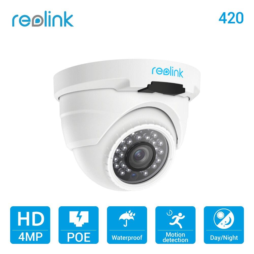 Reolink IP Camera PoE 4MP 2560*1440P IP66 Waterproof Indoor Outdoor Dome Security Camera with Audio reolink ip camera outdoor hd 4mp poe