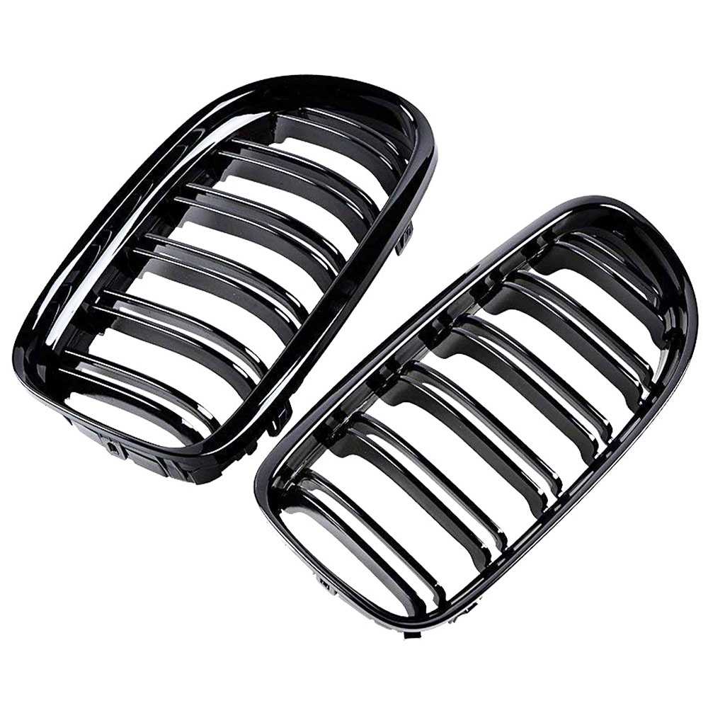 09-11 For Bmw E90 E91 Lci 323i 325i 330i 335i Glossy Black Kidney Double Line Grille Grill To Invigorate Health Effectively