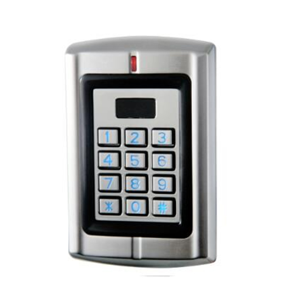 Metal Case Water-proof Keypad &RFID Access Control Reader For Two Door