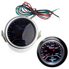 1 Unidades 52mm 52mm Universal Car Smoke Lente LED DEL Indicador de Temperatura de Aceite Gauge Meter Car Truck Parts medidores