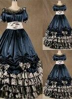 Великолепный синий викторианской лолита платье длинное платье