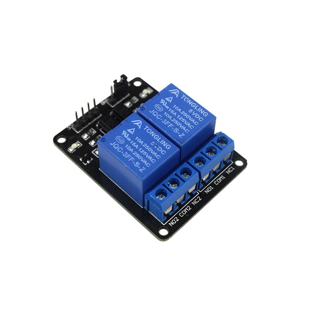 2 Channel 5V Relay Module Board with Optocoupler