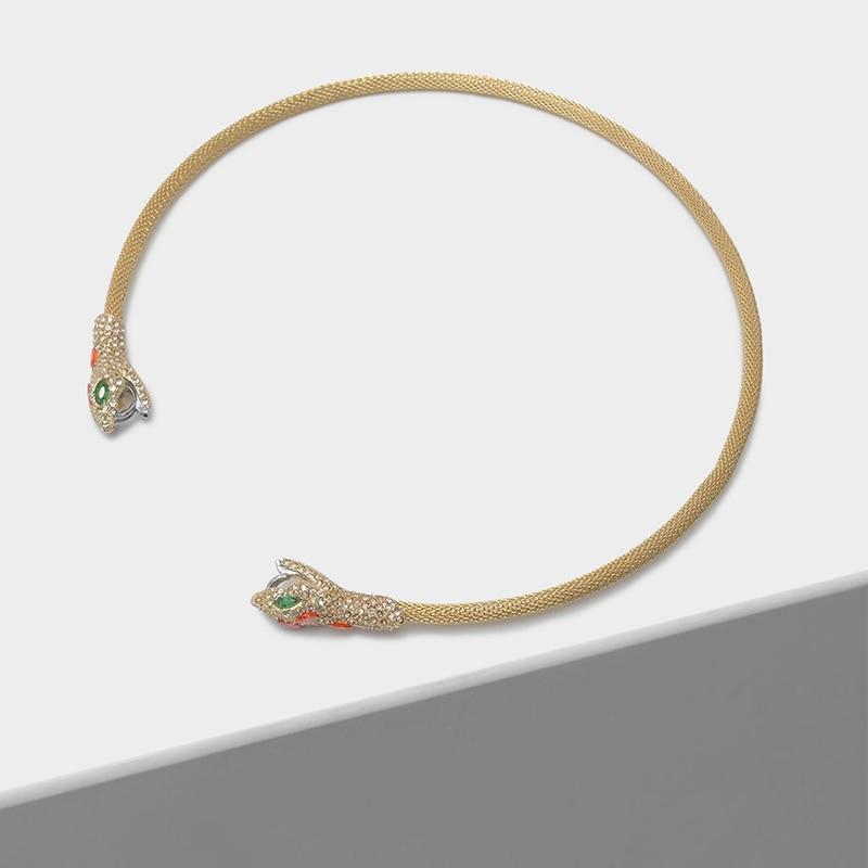 Amorita boutique Cubic zirconia serpentine opening fashion animal neck hoop