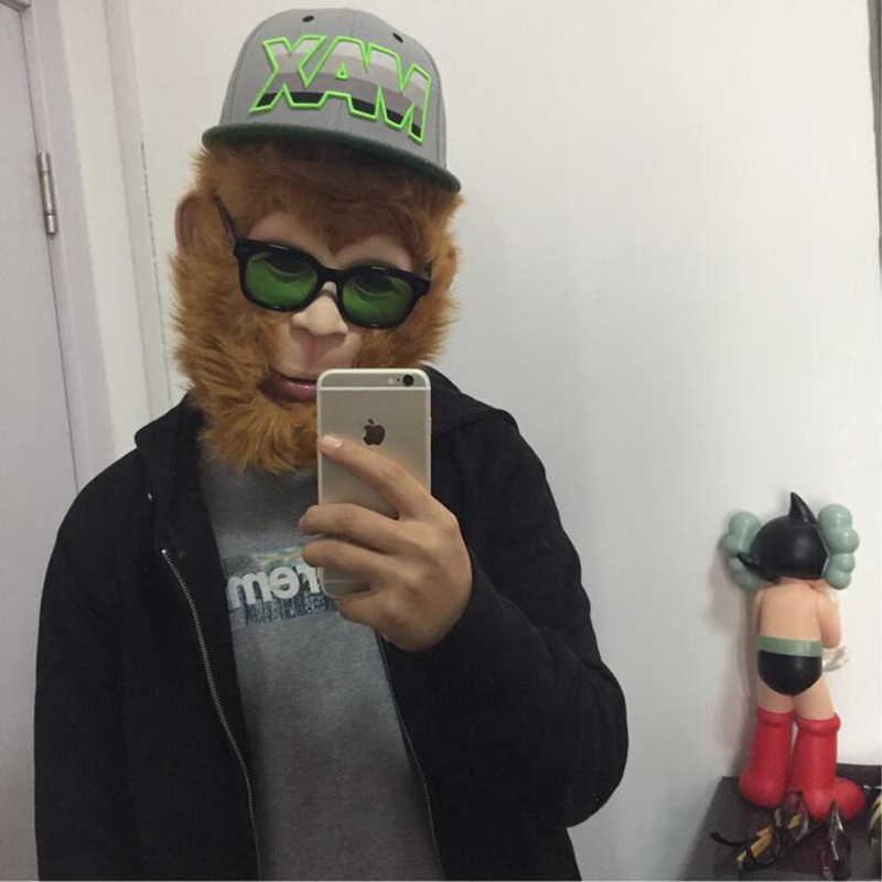Хэллоуин ужас латексная маска обезьяна цитиан дашэн путешествие в династии Тан мастера Сунь Укун головной убор парик для косплея маска
