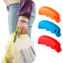 High Quality Practical Soft Vegetable Fruit Shopping Bag Hanger Hanging Ring Relaxed Carry Food Machine Free Shipping(China)