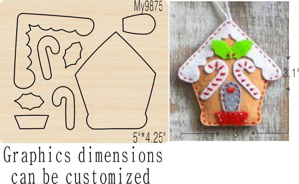 Christmas Cottage Wooden Mold Die Cut Accessories Wooden Die Regola Acciaio Die Misura ,MY