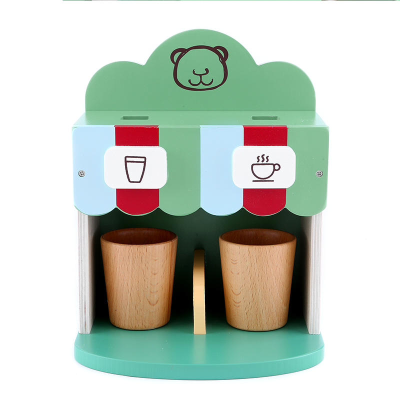 Kids Pretend Play Wooden Breakfast Coffee Maker Kitchen Role Playing Toys Educational Puzzle For Girls Boys Children Gifts