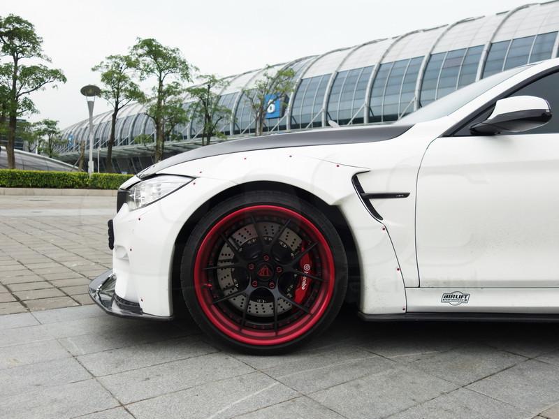 2014-2016 BMW F82 M4 LB Performance Style Body Kit CF (44)