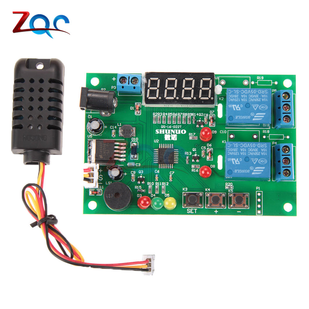 5V-24V LED Digital Temperature Humidity Controller Control Module Thermal Regulator Relay Hygrometer Thermometer AM2301 Sensor jenny dooley virginia evans happy rhymes 1 nursery rhymes and songs pupil s book