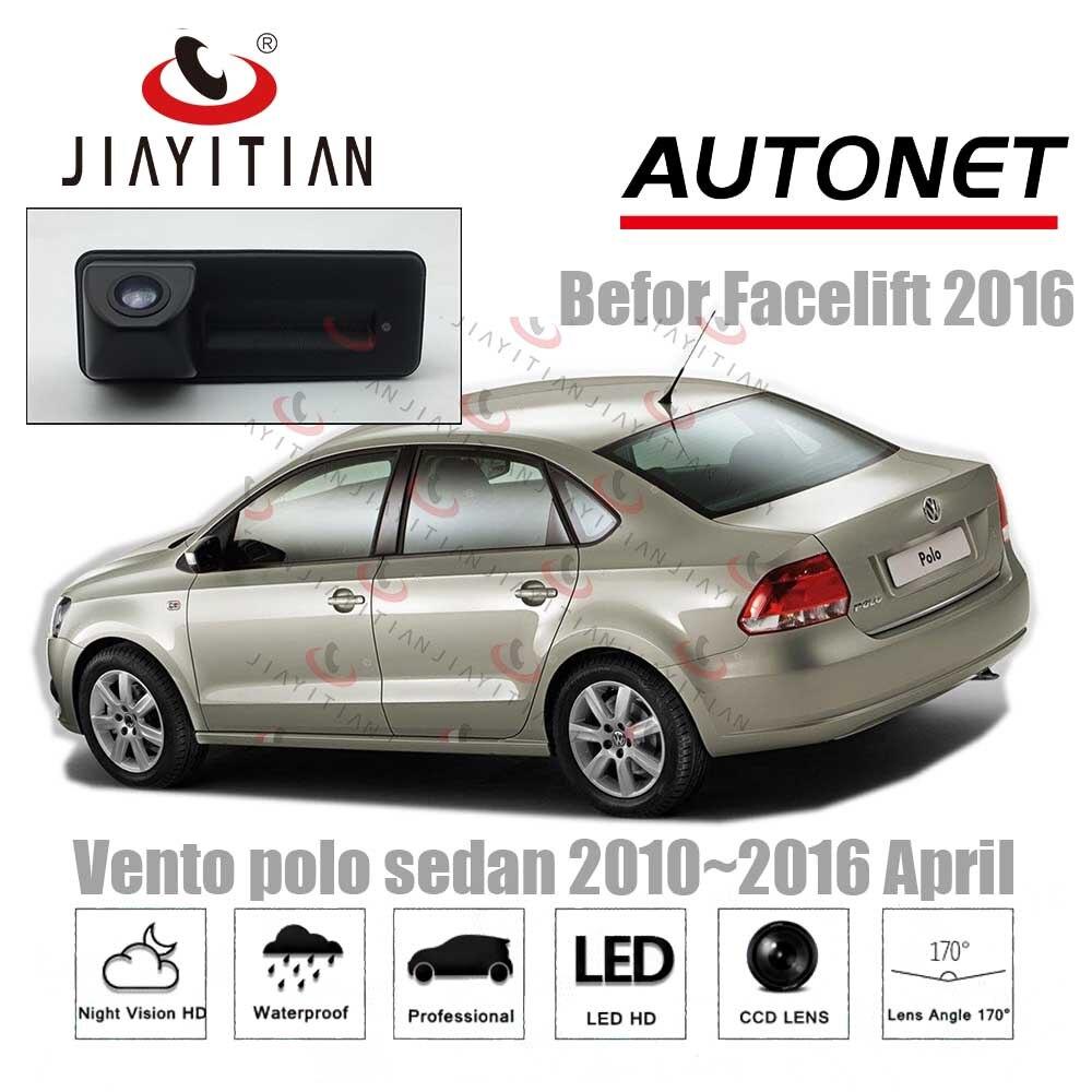 JIAYITIAN Alça Mala Do Carro da câmera Para VW Polo Sedan Vento 2010 2011 2012 2013 2014 2015 câmera de Visão Traseira de Estacionamento câmera de segurança