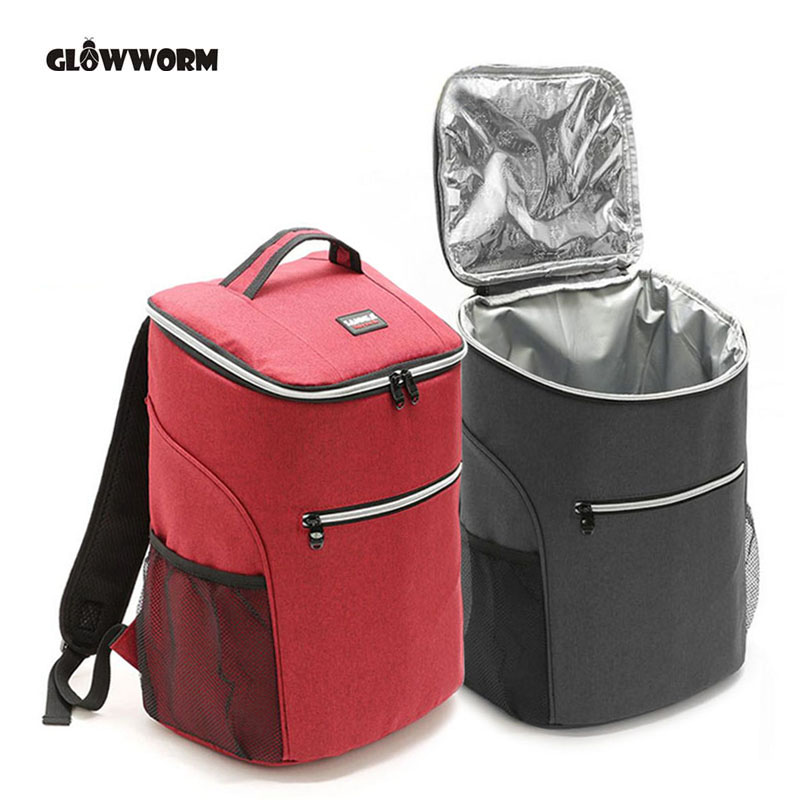 20L 600D oxford big cooler bag thermo lunch picnic box insulated cool backpack ice pack fresh carrier thermal nevera portatil image