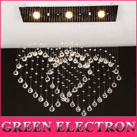Heart shaped Ceiling Lamp Modern Minimalist Double Heart Crystal Lamp Restaurant Bar Crystal LED Lights Bedroom Living Room Lamp