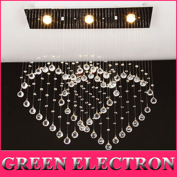 Heart-shaped Ceiling Lamp Modern Minimalist Double Heart Crystal Lamp Restaurant Bar Crystal LED Lights Bedroom Living Room Lamp