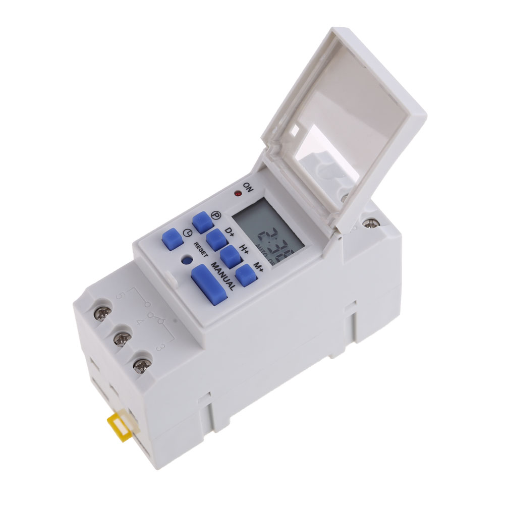THC15A Weekly Programmable Electronic Timer Digital Time Switch  AC 24V With Daily Programes 86.5x36x65.5mm #LO electronic light switch weekly programmable timer digital switch relay timer controller for controlling road lamp neon light