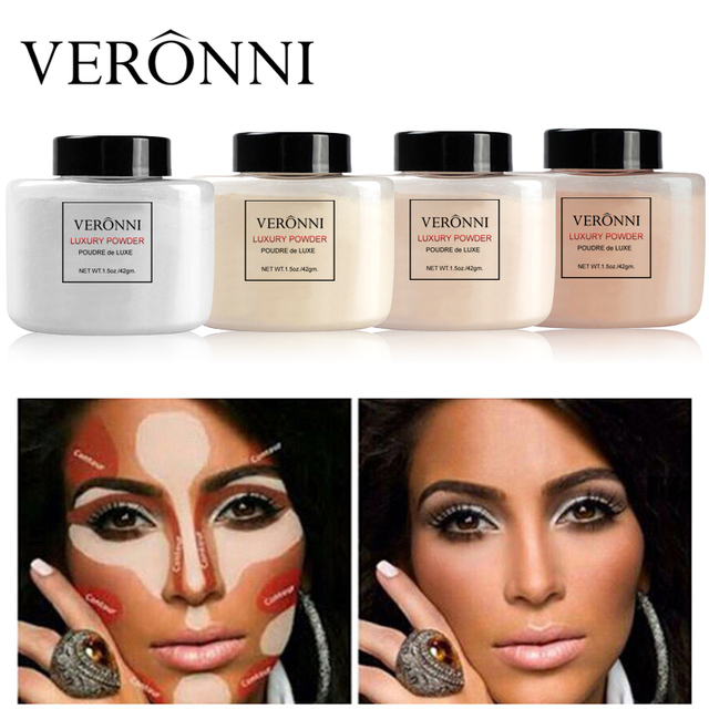 VERONNI Face Powder Makeup Matte Finish Loose Powder Natural Brighten Oil-control  Banana Loose Powder 42g 1