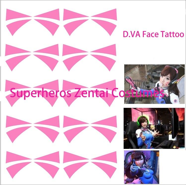 D.va Tattoo for dva cosplay costume Transfer tattoos Props Tattoo Sticker Waterproof Tatoo Women Body Art