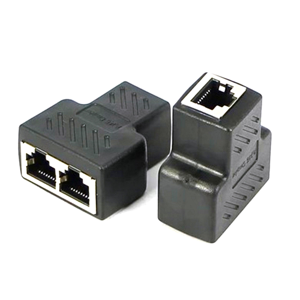 <font><b>1</b></font> <font><b>To</b></font> <font><b>2</b></font> Ways RJ45 <font><b>Ethernet</b></font> LAN Network <font><b>Splitter</b></font> Double <font><b>Adapter</b></font> Ports Coupler Connector Extender <font><b>Adapter</b></font> Plug Connector 2019 New image