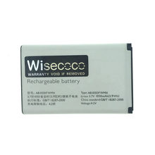 WISECOCO 1000mAh Battery For PHILIPS Xenium X116 X125 X126 X128 Smart Moble Phone AB1050GWMT/AB1050FWMX +Tracking Number(China)