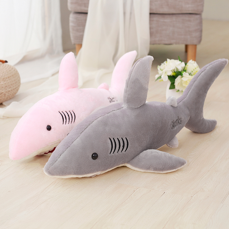 70cm 80cm 100cm 130cm new super soft cute BIG horror shark plush toy 3D shark pillow doll girl children birthday gift 1pcs 22cm fluffy plush toys white eyebrows cute dog doll sucker pendant super soft dogs plush toy boy girl children gift