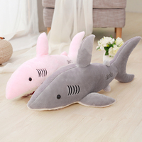 70 cm 80 cm 100 cm 130 cm nuevo super suave grande lindo terror Shark peluche 3D tiburón almohada muñeca niños regalo de cumpleaños