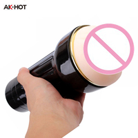 AK-HOT Electric Male Masturbators Stroker Cup,Sex Toys Products For Man,Soft Silicone Skin,Real Pocket Pussy Artificial Vagina