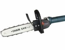 """גרסה מעודכנת 11.5 """"Chainsaw זווית מטחנות אביזרי נגרות חיתוך שרשרת מסור הדדיות מסור כוח כלי קובץ מצורף"""
