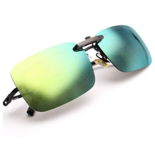 Driving Glasses Night-Vision Clip-On Lens Polarized Day Cool Square Eye-Protection Anti-Sun