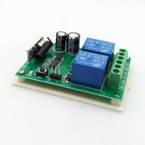 Image 4 - Радиочастотный переключатель, беспроводной дистанционный контроллер постоянного тока, 12 В, 433 МГц, релейный модуль приемника, 2 стороннее управление, 2NO + 2NC для линейного привода двигателя