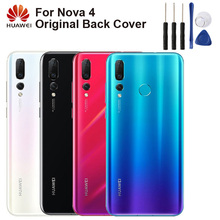 Huawei Original Mobile Phone Housing Back Cover For NOVA 4 NOVA4 Case Glass Rear