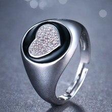 Emmaya – bague de luxe en Zircon cubique AAA pour femme, anneau ouvert, Micro pavé, en forme de cœur, bijoux de fête