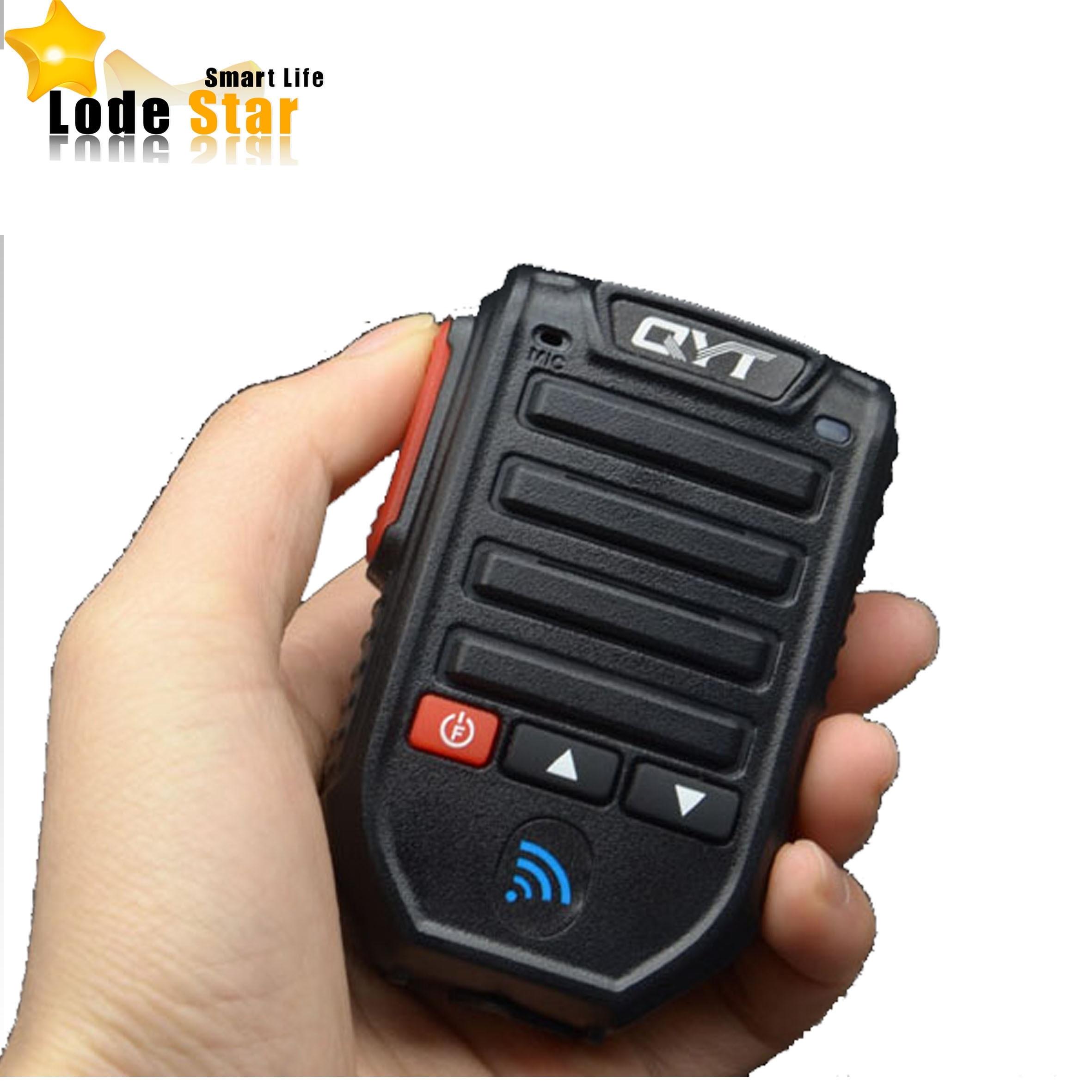 imágenes para Nueva bt-89 bt89 manos libres bluetooth inalámbrico micrófono de mano micrófono altavoz para qyt kt-7900d kt-8900d car mobile radio walkie