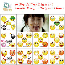 2016 fashion small body cartoon face expression tattoo temporary sticker smilies for children