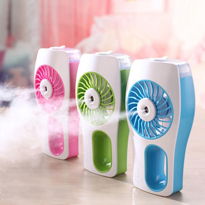 Air Conditioner Portable Fan Handheld Mini Fan Spray Water Supply Humidification Cooling Table Fan For Home Office new portable outdoor mini fans with led lamp light table usb fan spray water humidifier personal air cooler conditioner for home