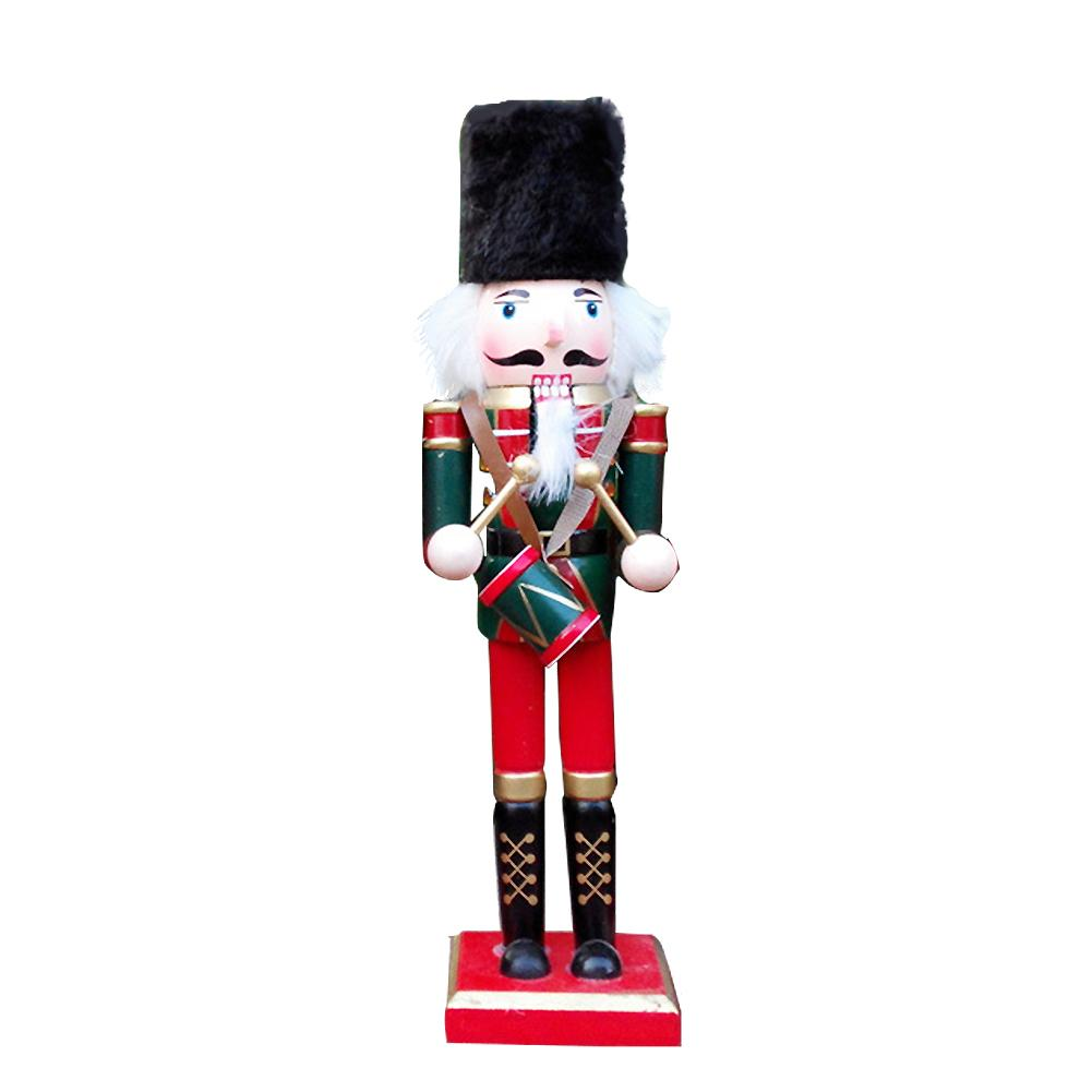 Toy Puppet Nutcracker Window-Decor Hand-Painting Soldier-Shape Christmas-Gift Office