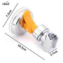Suction Cup Bathroom Shower Head Holder Showerhead Bracket Adjustable Height Plastic ABS Chrome Polished