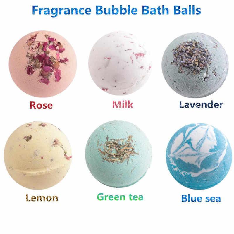 1Pcs Deep Sea Bath Salt Body Essential Oil Bath Ball Natural Bubble Bath  Bombs Ball 6 02b48f0b4a82