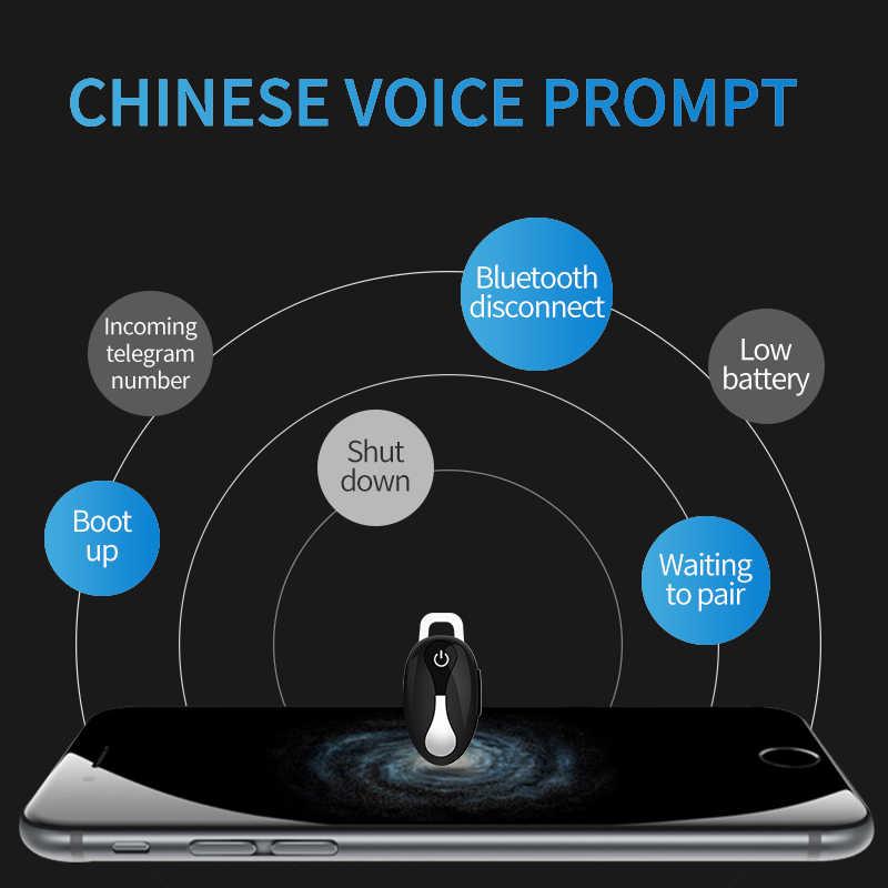 SANLEPU Mini Bluetooth słuchawki Bluetooth słuchawki bezprzewodowe douszne słuchawki głośnomówiące do jazdy samochodem telefon Sport