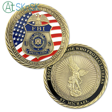 1/3/5/10pcs ST. Michael US FBI Special Agent Challenge Coin Protecting Those Who Protect Others Law Enforcement collectible