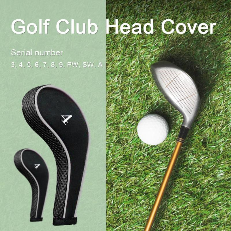 High Quality Durable 10Pcs Golf Club Iron Headcover Head Cover Leather Golf Protection Set High Quality Golf Accessories