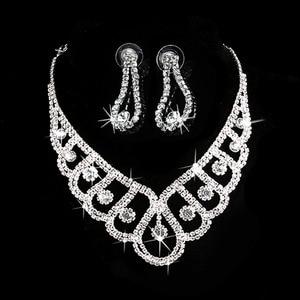 New Fashion Silver Crystal Wed