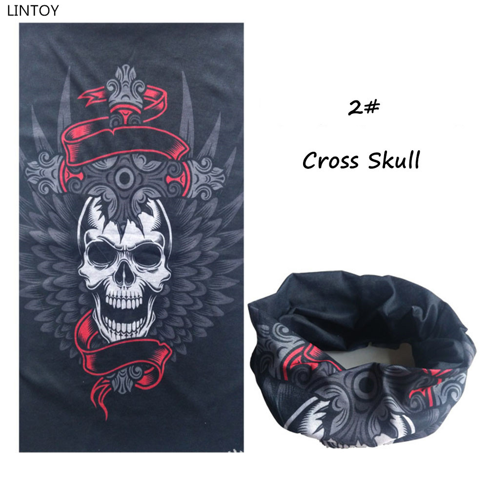 Innovat Skull Series Bandanas Sport Riding Cycle Bicycle Motorcycle Riding Variety Turban Magic Headband Veil Multi Head Scarf