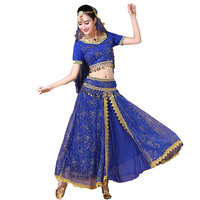 New 4pcs Performance Belly Dance Costume Bollywood Costume Indian Dress Bellydance Dress Womens Belly Dancing Costume