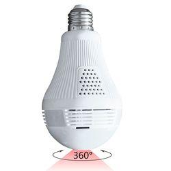 Câmera IP 1080P 3D 2MP ZJUXIN light Bulb WiFi Câmera de cctv visão Noturna Panorâmica de 360 Graus Sem Fio de Casa Inteligente camara ip