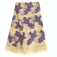 2016 Hot Tulle French Embroidered Mesh Lace Fabric Cream Color African Lace Fabric High Quality Guipure