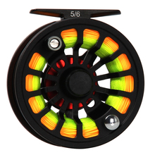 3/4 5/6 7/8 WT Fly Reel Combo Large Arbor CNC Machined Aluminum Fly Fishing Reel WF Floating Fly Fishing Line Backing Leader
